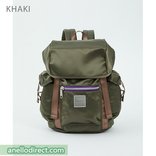 Anello SABRINA Flap Nylon Backpack Regular Size ATT0506 Khaki Japan Original Official Authentic Real Genuine Bag Free Shipping Worldwide Special Discount Low Prices Great Offer