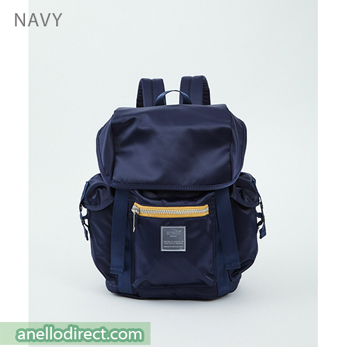 Anello SABRINA Flap Nylon Backpack Regular Size ATT0506 Navy Japan Original Official Authentic Real Genuine Bag Free Shipping Worldwide Special Discount Low Prices Great Offer