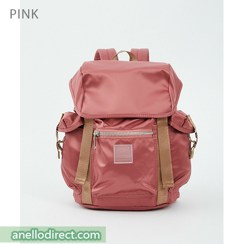 Anello SABRINA Flap Nylon Backpack Regular Size ATT0506 Pink Japan Original Official Authentic Real Genuine Bag Free Shipping Worldwide Special Discount Low Prices Great Offer