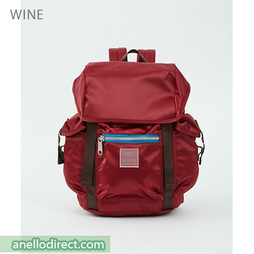 Anello SABRINA Flap Nylon Backpack Regular Size ATT0506 Wine Japan Original Official Authentic Real Genuine Bag Free Shipping Worldwide Special Discount Low Prices Great Offer