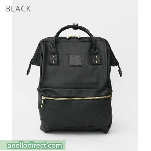 Anello RE-MODEL PU Leather Backpack Rucksack Large Size AU-B3501 Black Japan Original Official Authentic Real Genuine Bag Free Shipping Worldwide Special Discount Low Prices Great Offer