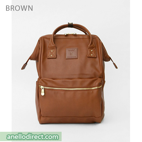 Anello RE-MODEL PU Leather Backpack Rucksack Large Size AU-B3501 Brown Japan Original Official Authentic Real Genuine Bag Free Shipping Worldwide Special Discount Low Prices Great Offer