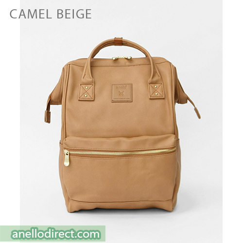 Anello RE-MODEL PU Leather Backpack Rucksack Large Size AU-B3501 Camel Beige Japan Original Official Authentic Real Genuine Bag Free Shipping Worldwide Special Discount Low Prices Great Offer