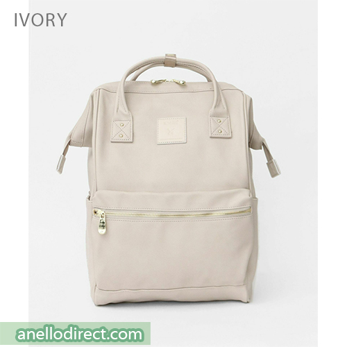 Anello RE-MODEL PU Leather Backpack Rucksack Large Size AU-B3501 Ivory Japan Original Official Authentic Real Genuine Bag Free Shipping Worldwide Special Discount Low Prices Great Offer