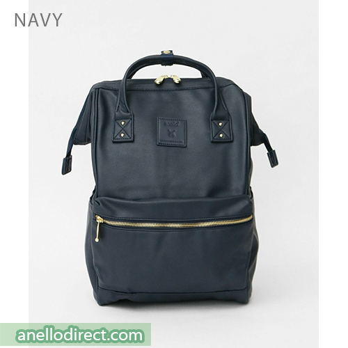 Anello RE-MODEL PU Leather Backpack Rucksack Large Size AU-B3501 Navy Japan Original Official Authentic Real Genuine Bag Free Shipping Worldwide Special Discount Low Prices Great Offer