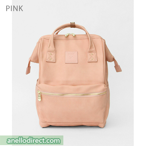 Anello RE-MODEL PU Leather Backpack Rucksack Large Size AU-B3501 Pink Japan Original Official Authentic Real Genuine Bag Free Shipping Worldwide Special Discount Low Prices Great Offer