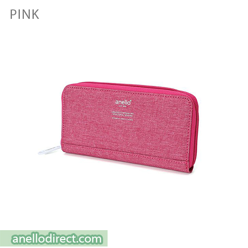 Anello THE DAY Round Zip Long Wallet AU-H1153 Pink Japan Original Official Authentic Real Genuine Bag Free Shipping Worldwide Special Discount Low Prices Great Offer