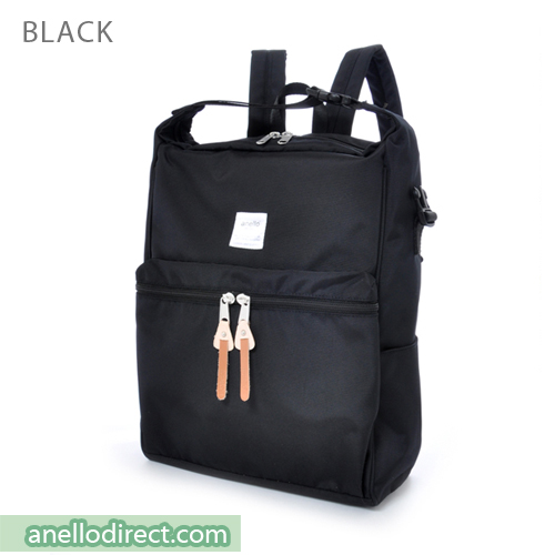 Anello Polyester 2 Way Backpack & Shoulder Bag AU-N0561 Black Japan Original Official Authentic Real Genuine Bag Free Shipping Worldwide Special Discount Low Prices Great Offer