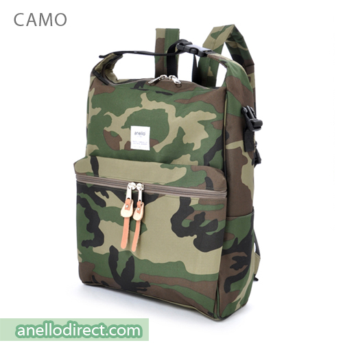 Anello Polyester 2 Way Backpack & Shoulder Bag AU-N0561 Camo Japan Original Official Authentic Real Genuine Bag Free Shipping Worldwide Special Discount Low Prices Great Offer