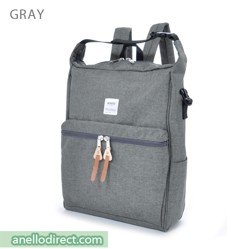 Anello Polyester 2 Way Backpack & Shoulder Bag AU-N0561 Gray Japan Original Official Authentic Real Genuine Bag Free Shipping Worldwide Special Discount Low Prices Great Offer