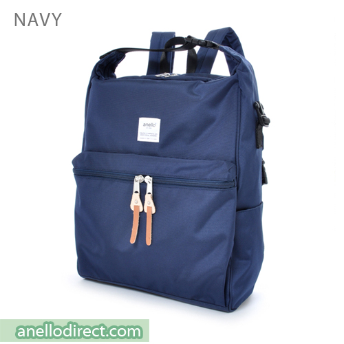 Anello Polyester 2 Way Backpack & Shoulder Bag AU-N0561 Navy Japan Original Official Authentic Real Genuine Bag Free Shipping Worldwide Special Discount Low Prices Great Offer