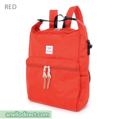 Anello Polyester 2 Way Backpack & Shoulder Bag AU-N0561 Red Japan Original Official Authentic Real Genuine Bag Free Shipping Worldwide Special Discount Low Prices Great Offer