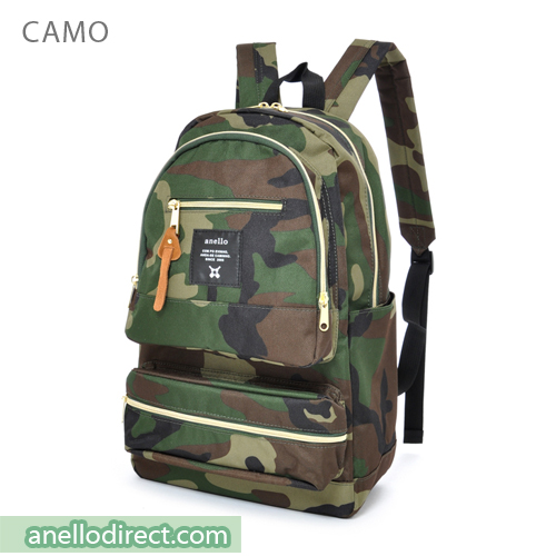 Anello Three Dimensional Pocket Backpack Rucksack AU-N0641 Camo Japan Original Official Authentic Real Genuine Bag Free Shipping Worldwide Special Discount Low Prices Great Offer