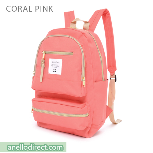 Anello Three Dimensional Pocket Backpack Rucksack AU-N0641 Coral Pink Japan Original Official Authentic Real Genuine Bag Free Shipping Worldwide Special Discount Low Prices Great Offer