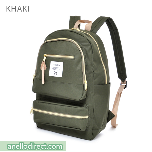 Anello Three Dimensional Pocket Backpack Rucksack AU-N0641 Khaki Japan Original Official Authentic Real Genuine Bag Free Shipping Worldwide Special Discount Low Prices Great Offer