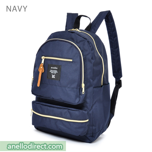 Anello Three Dimensional Pocket Backpack Rucksack AU-N0641 Navy Japan Original Official Authentic Real Genuine Bag Free Shipping Worldwide Special Discount Low Prices Great Offer
