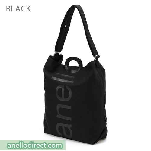 Anello O Handle 2 Way Tote Bag Handbag AU-S0061 Black Japan Original Official Authentic Real Genuine Bag Free Shipping Worldwide Special Discount Low Prices Great Offer