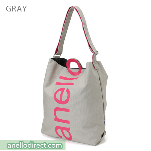 Anello O Handle 2 Way Tote Bag Handbag AU-S0061 Gray Japan Original Official Authentic Real Genuine Bag Free Shipping Worldwide Special Discount Low Prices Great Offer