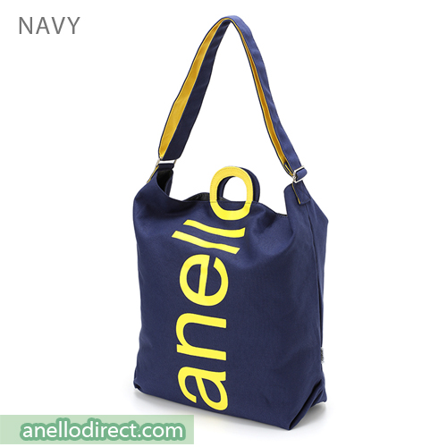 Anello O Handle 2 Way Tote Bag Handbag AU-S0061 Navy Japan Original Official Authentic Real Genuine Bag Free Shipping Worldwide Special Discount Low Prices Great Offer