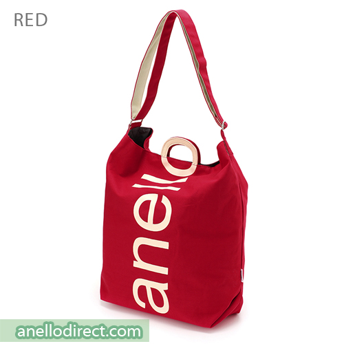 Anello O Handle 2 Way Tote Bag Handbag AU-S0061 Red Japan Original Official Authentic Real Genuine Bag Free Shipping Worldwide Special Discount Low Prices Great Offer