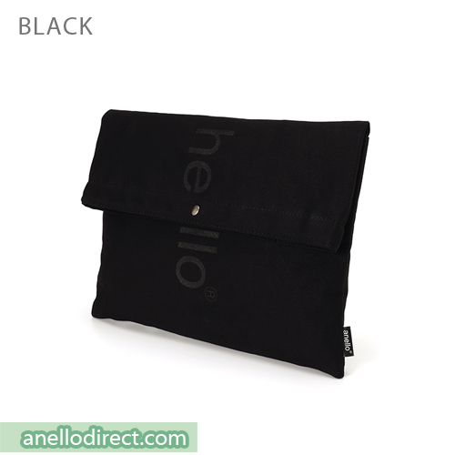 Anello Polyester Cotton 3 Way Clutch Tote Shoulder Bag AU-S0131 Black Japan Original Official Authentic Real Genuine Bag Free Shipping Worldwide Special Discount Low Prices Great Offer