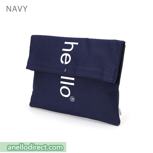 Anello Polyester Cotton 3 Way Clutch Tote Shoulder Bag AU-S0131 Navy Japan Original Official Authentic Real Genuine Bag Free Shipping Worldwide Special Discount Low Prices Great Offer