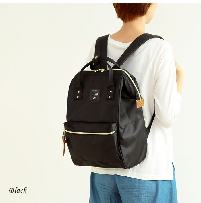 Japan Anello Hotch Potch Japan Rakuten Upgraded Special Edition Polyester Canvas Backpack Rucksack Regular Large Size 7