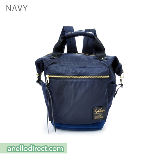 Legato Largo High Density Nylon Boston Backpack Rucksack Mini Size LH-B1444 Navy Japan Original Official Authentic Real Genuine Bag Free Shipping Worldwide Special Discount Low Prices Great Offer