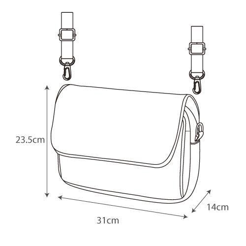 Japan Legato Largo Water Repellent Mat Nylon Twill 2 Way Shoulder Bag LH-B3324