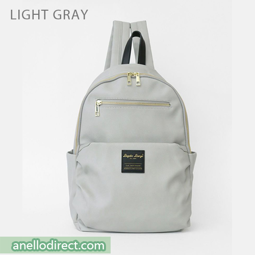 Legato Largo Smooth Grain PU Leather Backpack Rucksack LH-E0981 Light Gray Japan Original Official Authentic Real Genuine Bag Free Shipping Worldwide Special Discount Low Prices Great Offer
