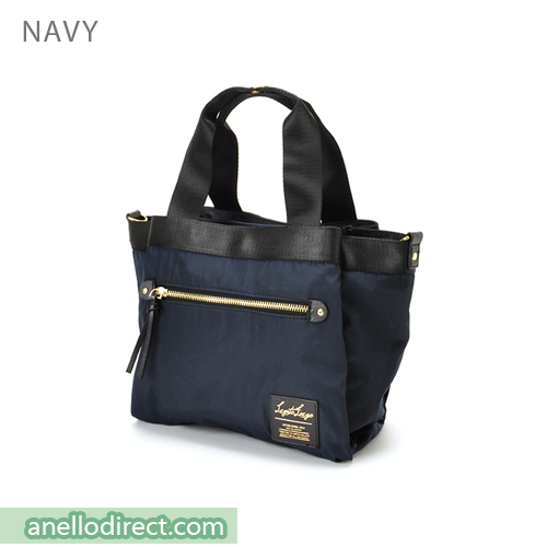 Legato Largo High Density Nylon 10 Pockets 2 Way Handle & Shoulder Bag LH-F1051 Navy Japan Original Official Authentic Real Genuine Bag Free Shipping Worldwide Special Discount Low Prices Great Offer