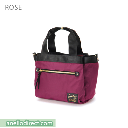 Legato Largo High Density Nylon 10 Pockets 2 Way Handle & Shoulder Bag LH-F1051 Rose Japan Original Official Authentic Real Genuine Bag Free Shipping Worldwide Special Discount Low Prices Great Offer
