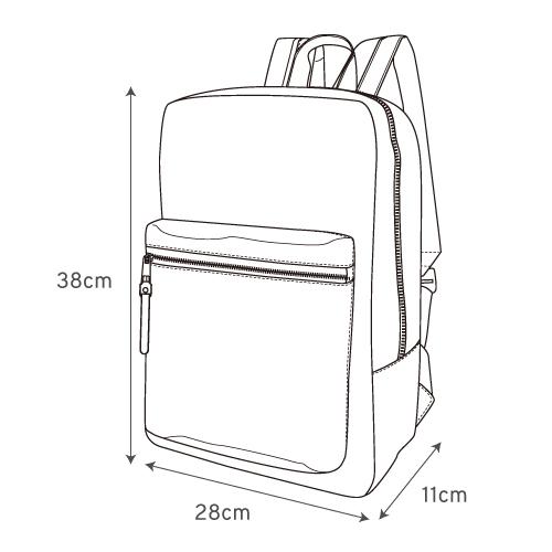Japan Legato Largo Water Repellent 10 Pocket Backpack Rucksack LH-H1672
