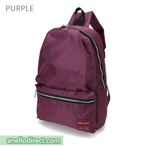 Legato Largo Water Repellent 10 Pocket Backpack Rucksack LH-H1672 Purple Japan Original Official Authentic Real Genuine Bag Free Shipping Worldwide Special Discount Low Prices Great Offer
