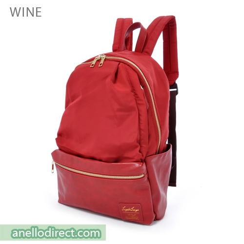 Legato Largo Polyester X PU 10 Pockets Backpack Rucksack LR-H1051 Wine Japan Original Official Authentic Real Genuine Bag Free Shipping Worldwide Special Discount Low Prices Great Offer