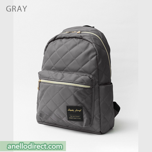 Legato Largo Elegant Nylon-Like Quilting Backpack Rucksack LS-G0773 Gray Japan Original Official Authentic Real Genuine Bag Free Shipping Worldwide Special Discount Low Prices Great Offer