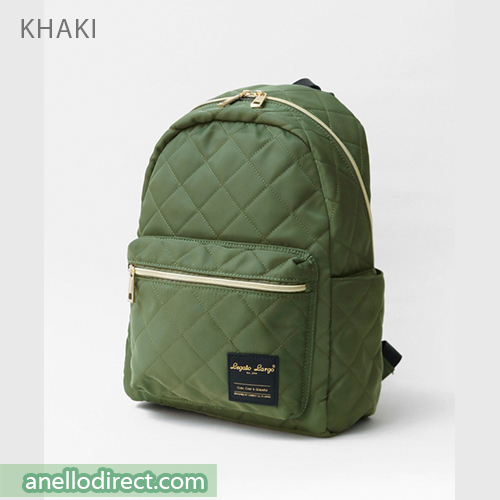 Legato Largo Elegant Nylon-Like Quilting Backpack Rucksack LS-G0773 Khaki Japan Original Official Authentic Real Genuine Bag Free Shipping Worldwide Special Discount Low Prices Great Offer