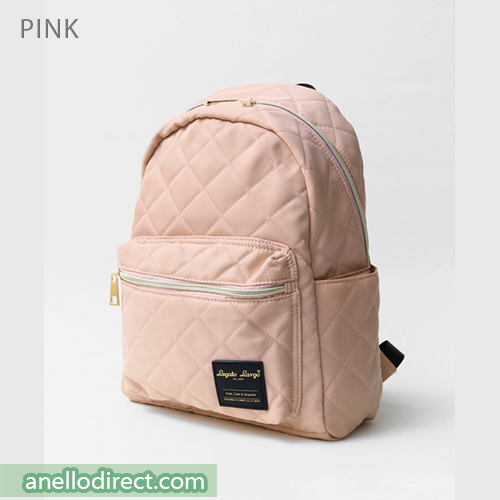 Legato Largo Elegant Nylon-Like Quilting Backpack Rucksack LS-G0773 Pink Japan Original Official Authentic Real Genuine Bag Free Shipping Worldwide Special Discount Low Prices Great Offer