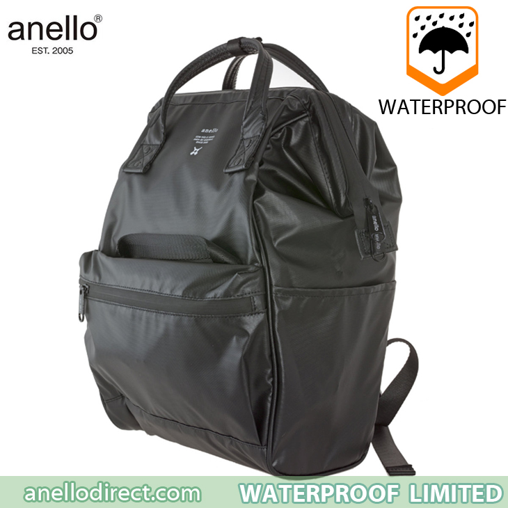 Anello Waterproof Oversea Edition Backpack Rucksack Regular Size OS-B001 Black Japan Original Official Authentic Real Genuine Bag Free Shipping Worldwide Special Discount Low Prices Great Offer