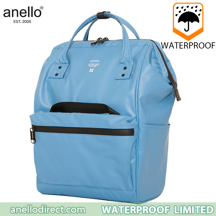 Anello Waterproof Oversea Edition Backpack Rucksack Regular Size OS-B001 Blue Japan Original Official Authentic Real Genuine Bag Free Shipping Worldwide Special Discount Low Prices Great Offer