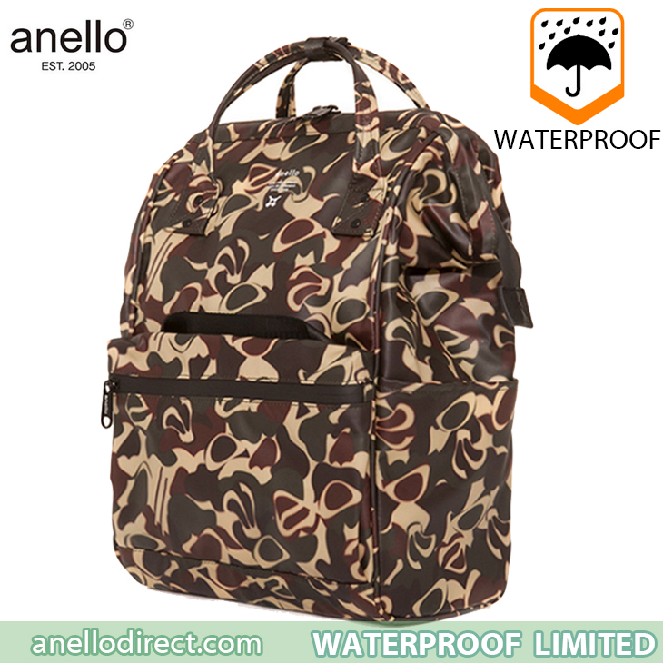 Anello Waterproof Oversea Edition Backpack Rucksack Regular Size OS-B001 Camo Japan Original Official Authentic Real Genuine Bag Free Shipping Worldwide Special Discount Low Prices Great Offer
