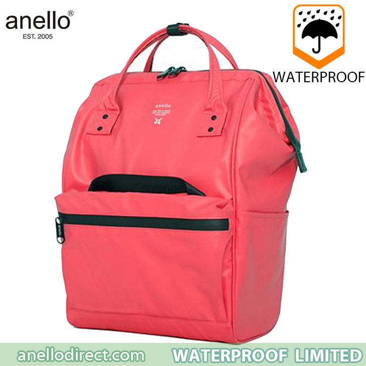 Anello Waterproof Oversea Edition Backpack Rucksack Regular Size OS-B001 Coral Pink Japan Original Official Authentic Real Genuine Bag Free Shipping Worldwide Special Discount Low Prices Great Offer