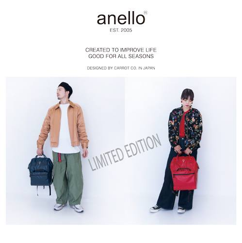 Japan Anello Waterproof Oversea Edition Backpack Rucksack NAVY OS-B001