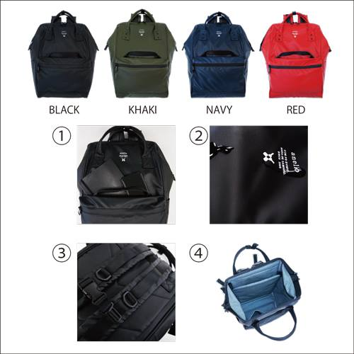 Japan Anello Waterproof Oversea Edition Backpack Rucksack NAVY OS-B001 af5cfb383be9d