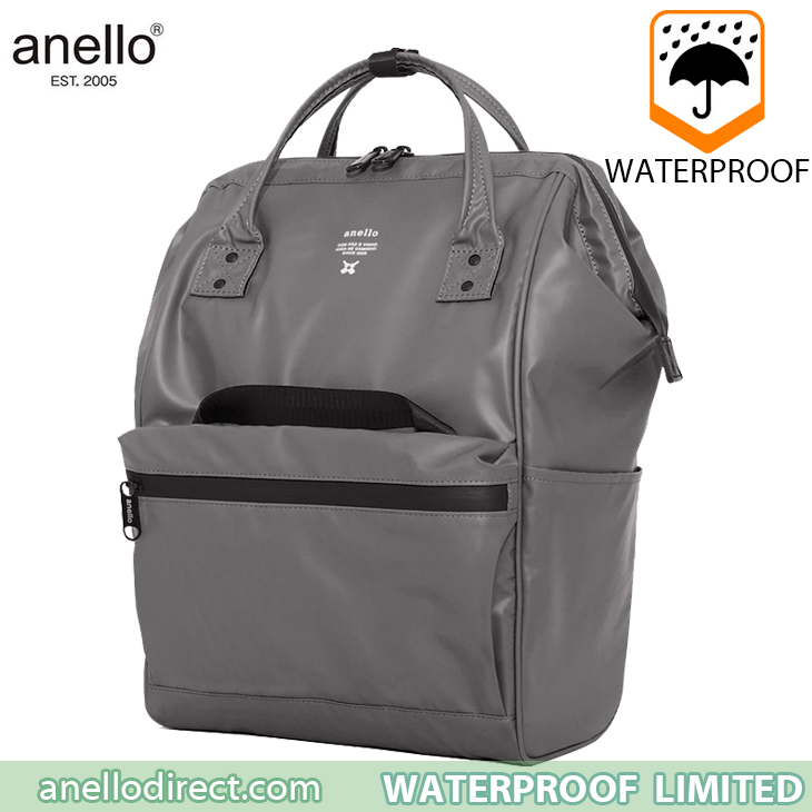 Anello Waterproof Oversea Edition Backpack Rucksack Regular Size OS-B001 Gray Japan Original Official Authentic Real Genuine Bag Free Shipping Worldwide Special Discount Low Prices Great Offer