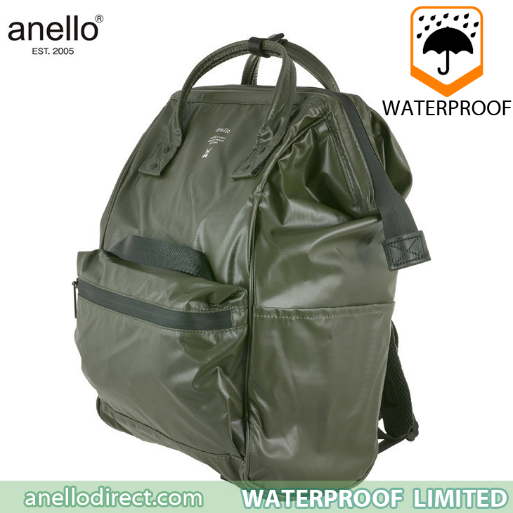 Anello Waterproof Oversea Edition Backpack Rucksack Regular Size OS-B001 Khaki Japan Original Official Authentic Real Genuine Bag Free Shipping Worldwide Special Discount Low Prices Great Offer