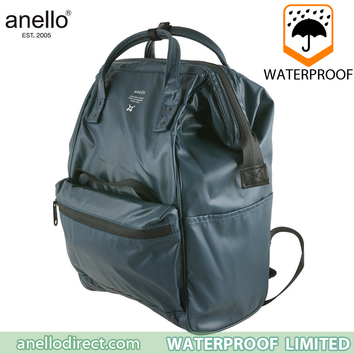 Anello Waterproof Oversea Edition Backpack Rucksack Regular Size OS-B001 Navy Japan Original Official Authentic Real Genuine Bag Free Shipping Worldwide Special Discount Low Prices Great Offer